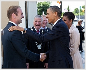 Henry Healy meeting President Obama